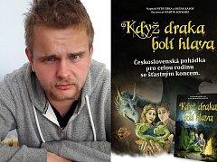 Přebal knihy Když draka bolí hlava, kterou napsali dvojjazyčně Petr Šiška a Dušan Rapoš s působivými ilustracemi Martina Schwarze (na snímku vpravo).