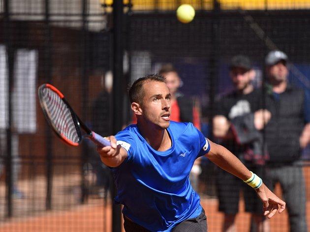 Lukáš Rosol na tenisovém turnaji Prosperita Open 2017 v Ostravě.