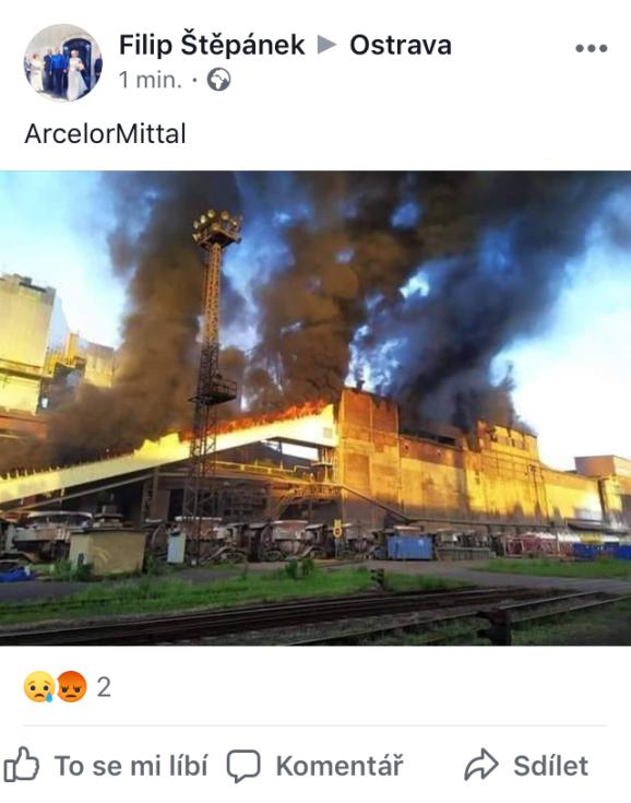 Snímek z Facebooku.