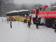 Dopravní nehoda, středa 1. února, Heřmanice u Oder.