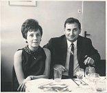 MARTA HÝŽOVÁ s manželem Václavem, rovněž bývalým pedagogem na Gymnáziu Ostrava-Hladnov.
