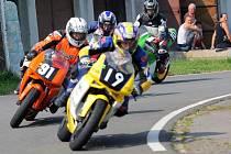 Sobotní trénink motocyklových závodů na okruhu v Ostravě-Radvanicích