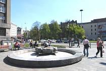 Náměstí E.Beneše v centru Ostravy
