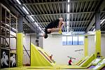 Trampolínový park Hop Jump, který se nachází v ostravské Dolní oblasti Vítkovice, únor 2020.