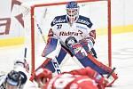 Utkání 7. kola hokejové extraligy: HC Vítkovice Ridera - HC Oceláři Třinec, 3. října 2019 v Ostravě. Na snímku brankář Vítkovic Daniel Dolejš.