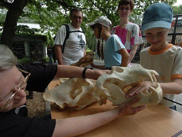 Dotykové stoly v ostravské zoo