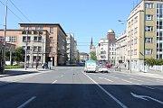 Českobratrská ulice v centru Ostravy, květen 2017. Ilustrační foto.