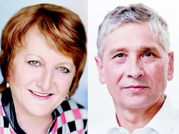 Vlevo Ludmila Bubeníková, vpravo Ivo Vonrák.