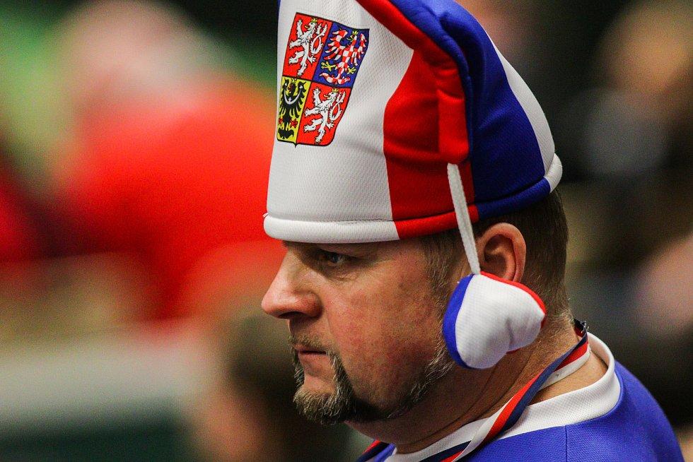 Utkání kvalifikace Fedcupového poháru Česká republika - Rumunsko, dvouhra, 10. února 2019 v Ostravě.