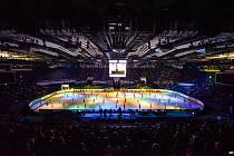 Mistrovství Evropy v krasobruslení poprvé v historii hostila Ostrava v lednu 2017. Na snímku slavnostní zahájení šampionátu.