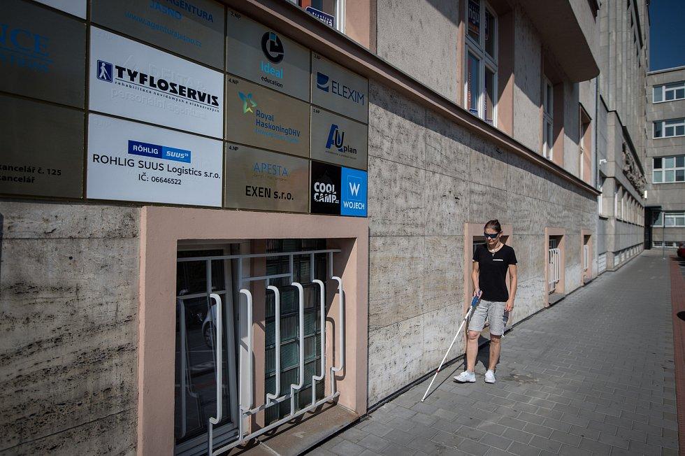 Tyfloservis v Ostravě.