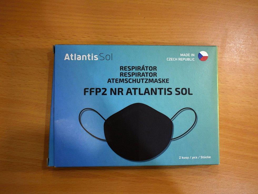 Respirátor Atlantis Sol prodává řetězec Dr. Max.