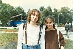 S manželkou, herečkou Lenkou Kucharskou.