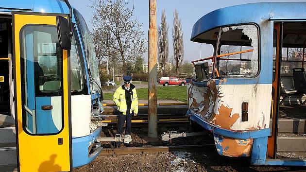 V Ostravě se srazily tramvaje. Ilustrační foto.