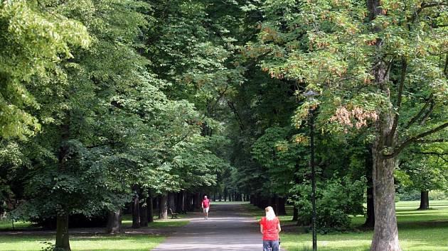 Komenského sady v Ostravě. Ilustrační foto