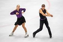 Sourozenci Natálie a Filip Taschlerovi v Ostravě ukázali svůj nový hip hopový krátký tanec, se kterým budou v Oberstdorfu bojovat o účast na zimní olympiádě v Pekingu 2022.