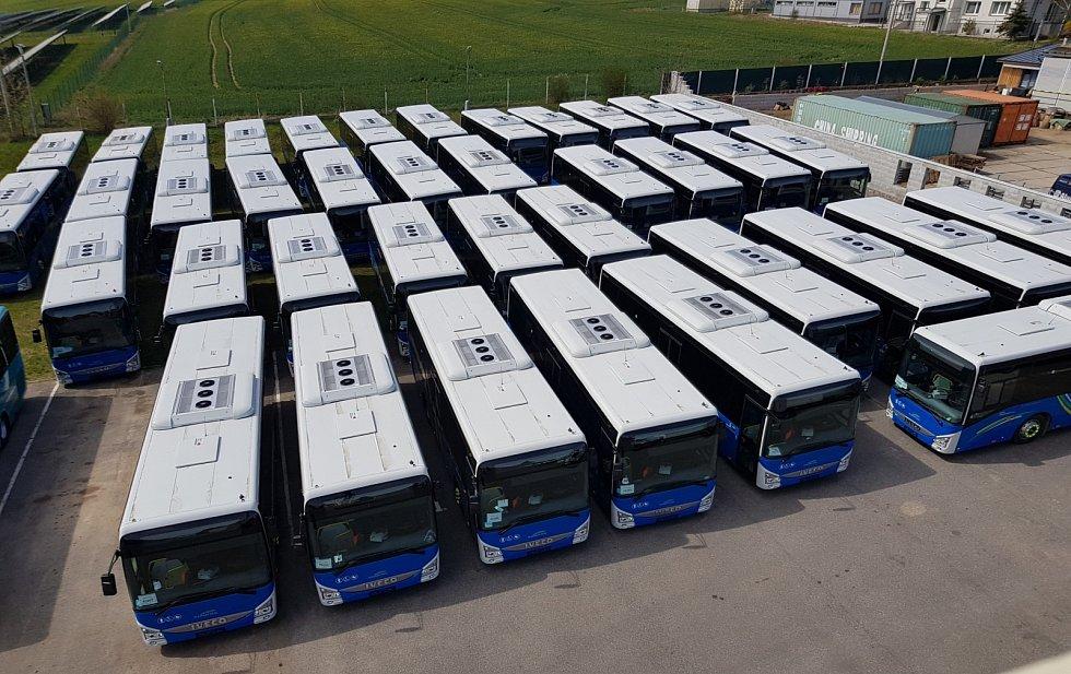 Příprava předání autobusů IVECO pro společnost Arriva Střední Čechy ve spolupráci se společností TEZAS servis.