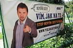Předvolební bilboardy u cest v Ostravě.