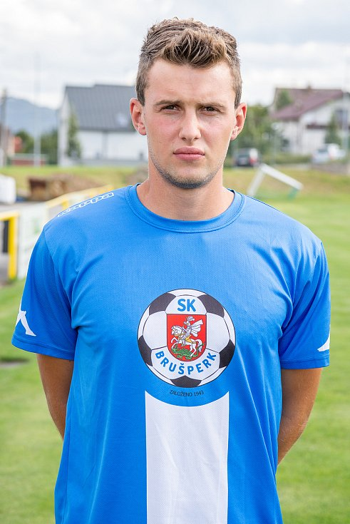 Fotbalový klub - Spolek SK Brušperk, 26. srpna 2020 v Brušperku. Radomil Kublák (obránce)