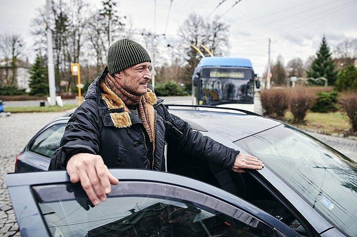 Snímek z natáčení seriálu Místo zločinu Ostrava.