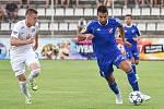 Přípravný zápas FC Baník Ostrava vs. FC Slovácko hrané v Kroměříži 5. července 2017. (zleva) Juroška Jan, Milan Baroš.