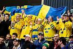 Mistrovství světa hokejistů do 20 let, semifinále: Švédsko - Rusko, 4. ledna 2020 v Ostravě. Na snímku fanoušci.