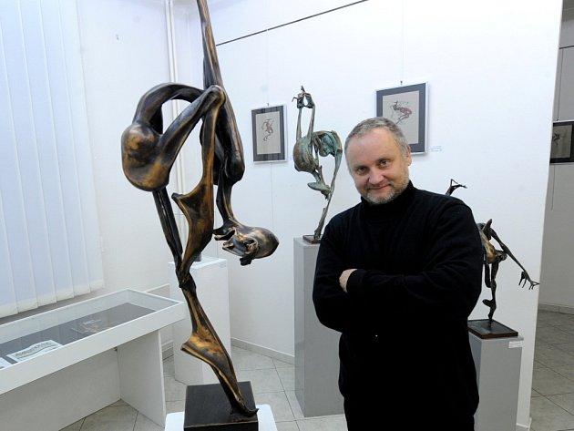 Díla Igora Kitzbergera ve Výtvarném centru Chagall v Ostravě.