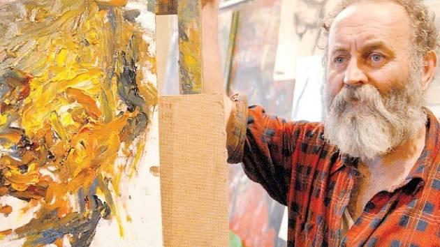 Akademický malíř Antonín Kroča reprezentuje Moravskoslezský kraj na veletrhu Art Prague.