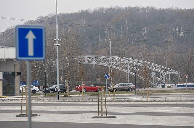 Nákupní středisko Outlet Arena Moravia vOstravě-Přívoze den před otevřením, středa 21.listopadu 2018.