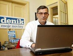 Zdeněk Nytra při on-line rozhovoru v redakci Deníku.