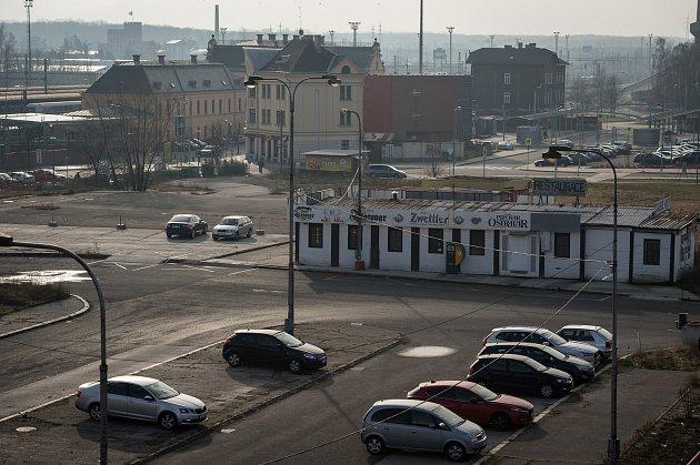 Prostor před nádražím ve Svinově, 13.ledna 2020vOstravě.