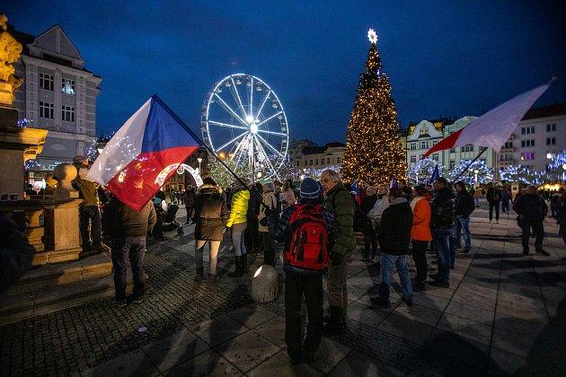 Vánoční trhy na Masarykově náměstí, 28.listopadu vOstravě.
