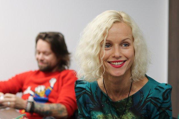 Karin Krajčová Babinská a Richard Krajčo, křest knihy snázvem Za sny, 1.prosince 2018vOstravě.