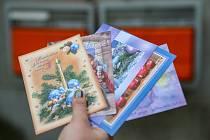 Vánoční pohlednice. Ilustrační foto.