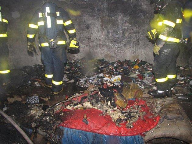 Silvestrovský požár kotelny v Ostravě