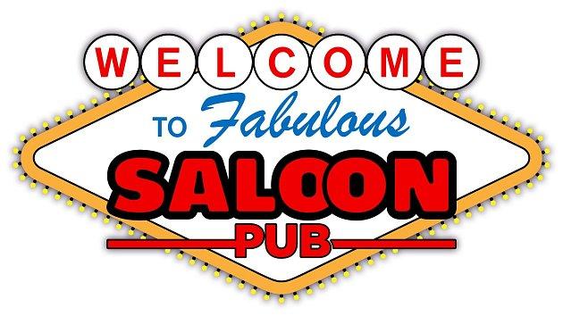 Saloon Pub, logo.