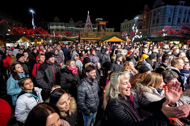 Vánoční trhy na Masarykově náměstí vOstravě.