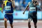 Zlatá tretra, atletický mítink IAAF World Challenge, 20. června 2019 v Ostravě. Na snímku (zleva) Andre De Grasse a Christian Coleman.