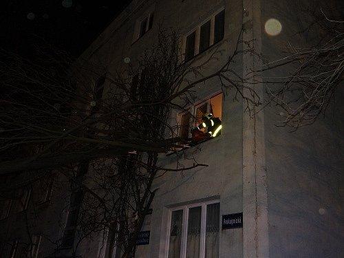 Zásah hasičů v Ostravě-Zábřehu