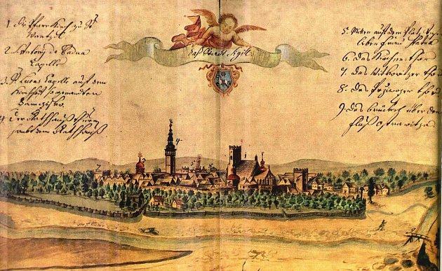 Na Vedutě  z roku 1728 je pohled na Moravskou Ostravu, která si vytrvale ponechávala původní podobu.