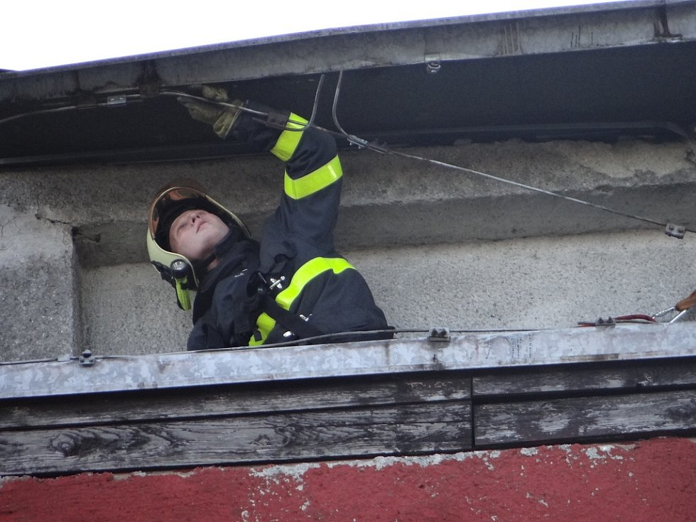 Zásah hasičů v Ostravě-Porubě