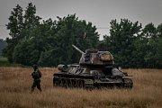 Příprava a nácvik vojenské akce Darkovičkách, pátek 18. květen 2018