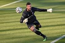 Brankář Baníku Ostrava Jan Laštůvka byl po sobotní porážce 0:1 v Českých Budějovicích naštvaný.
