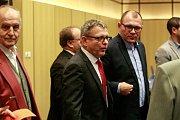 Povolební vyjednávání klubu ČSSD v hotelu Clarion v Ostravě.Na fotografii uprostřed Lubomír Zaorálek