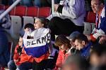 Mistrovství světa hokejistů do 20 let, skupina A: Slovensko - Kazachstán, 27. prosince 2019 v Třinci. Na snímku fanoušci.