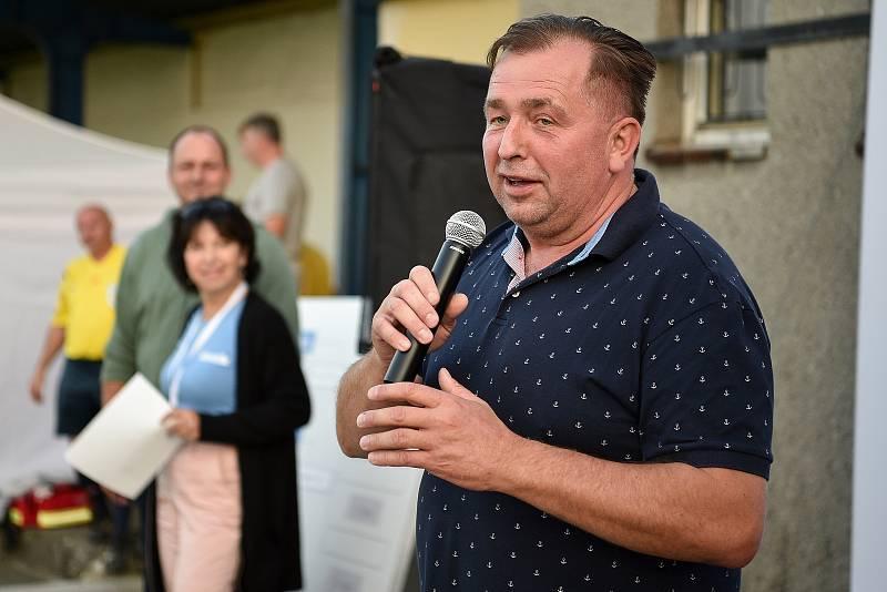 Zaměstnanecká liga Deníku, 22. září 2020 v Palkovicích. Starosta Radim Bača.