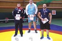 Tichavský zápasník Václav Petr si po výborných výkonech došel na nejvyšší stupínek.