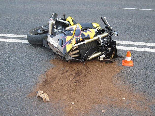 Havarovaný motocykl