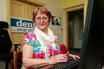 Ludmila Bubeníková, starostka Velké Polomi a zároveň předsedkyně krajského výboru hnutí Starostové a nezávislí v ostravské redakci Deníku.