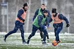 Zimní příprava FC Baníku Ostrava, 3. ledna 2019 v Ostravě. Na snímku (střed) Nemanja Kuzmanovič.